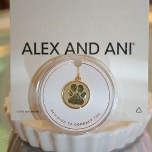 ALEX & ANI NEW PAW PRINT CHARM GOLD TONE